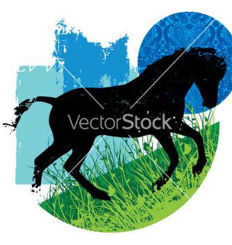 Free wild horse vector - Free vector #269537