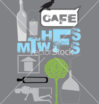 Free cafe design vector - Free vector #269547