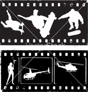 Free film strip grunge vector - Free vector #269647