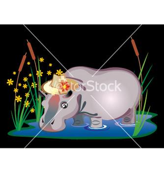 Free hippopotamus vector - vector gratuit #269697