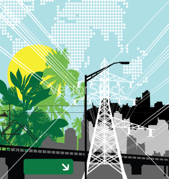 Free jungle city vector - Free vector #269707