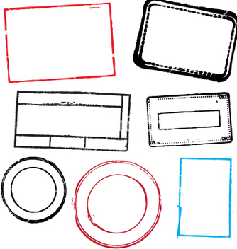 Free blank stamps vector - Free vector #270337