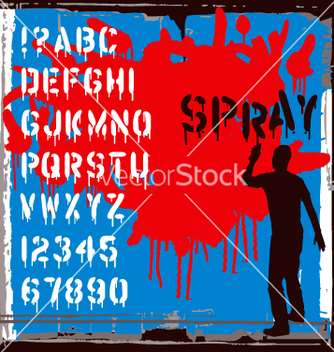 Free spray font vector - бесплатный vector #270837
