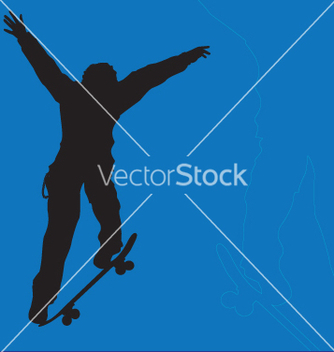 Free skater big ollie vector - Free vector #271077