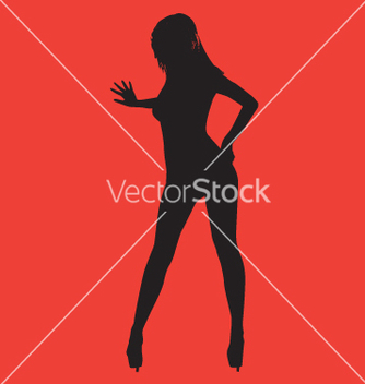 Free sexy silhouette vector - Free vector #271097