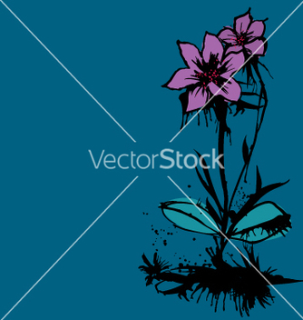 Free ink flower vector - Free vector #271257