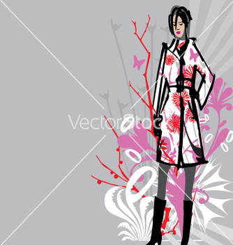 Free fashion model vector - vector gratuit #271397