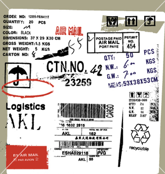 Free cargo and freight signs vector - vector gratuit #271507