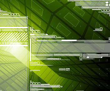 Abstract Green Hi-tech Background - vector gratuit #271587