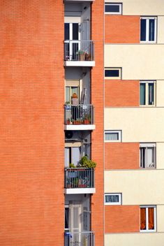 Orange facade of the house - image #271647 gratis