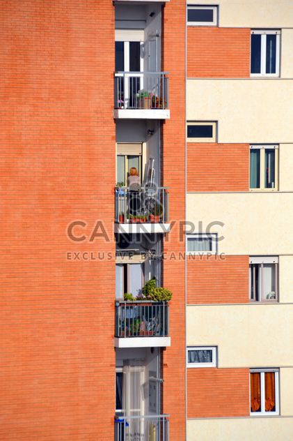 Orange facade of the house - Free image #271647