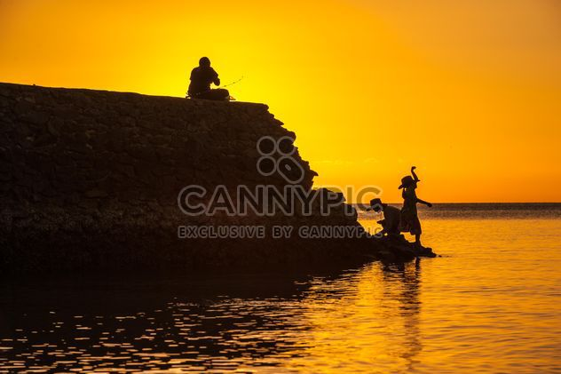 Silhouettes at sunset - Free image #271787