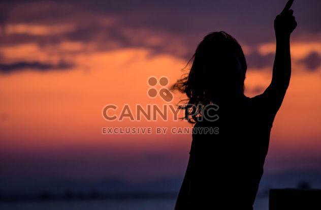 Silhouette bei Sonnenuntergang - Free image #271897