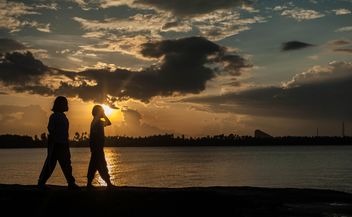 Silhouettes at sunset - Free image #271927