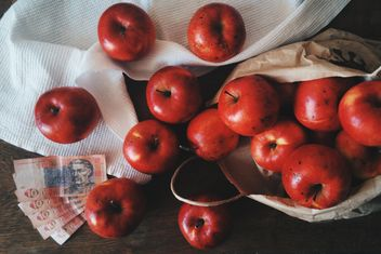 Red apples for 3 dollars, Chernivtsi, Ukraine - image gratuit #272277