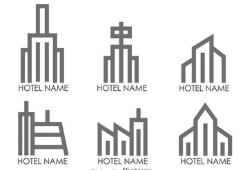 Hotels Outline Logo Vectors - vector gratuit #272397