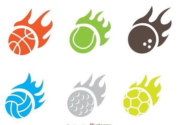 Flame Ball Icon Vectors - Free vector #272447