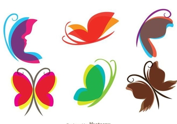 Flying Butterfly Icons - Free vector #272747