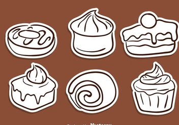 Cake Sketch Icons - Free vector #272817
