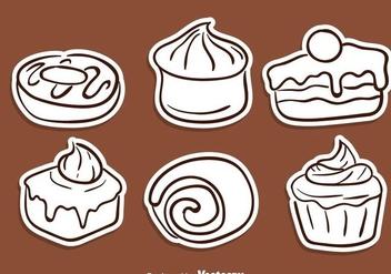 Cake Sketch Icons - Kostenloses vector #272817