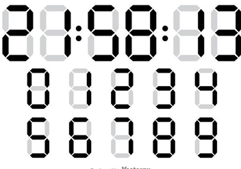 Digital Number Counter - Kostenloses vector #272847