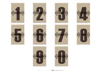Vintage Number Counter - vector gratuit #272857