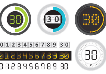 Digital Counters - бесплатный vector #272867