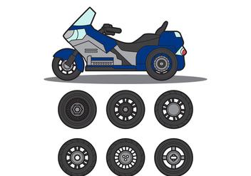 Free Motor Trike Vector - Free vector #272887