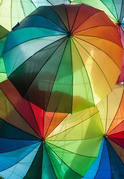 Rainbow umbrellas - Free image #273127