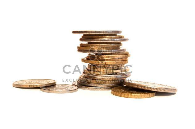 pièces de monnaie sur un fond blanc - image gratuit(e) #273187