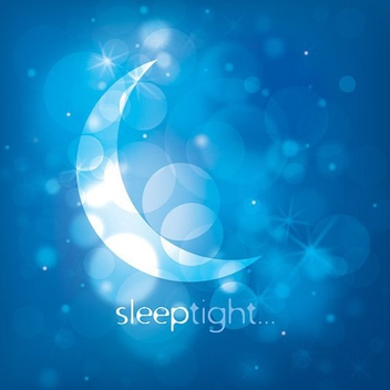 Moonlight Night Blue Background - Free vector #273447