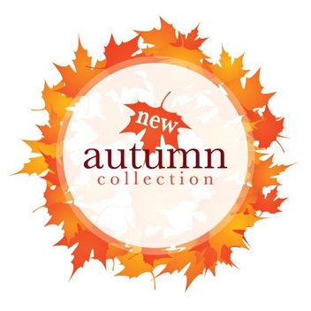 Circle Banner with Autumn Leaves - Free vector #273457