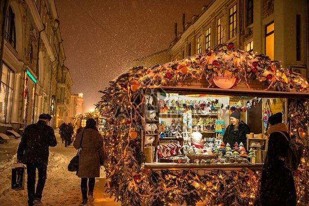 Street market in moscow - Free image #273467