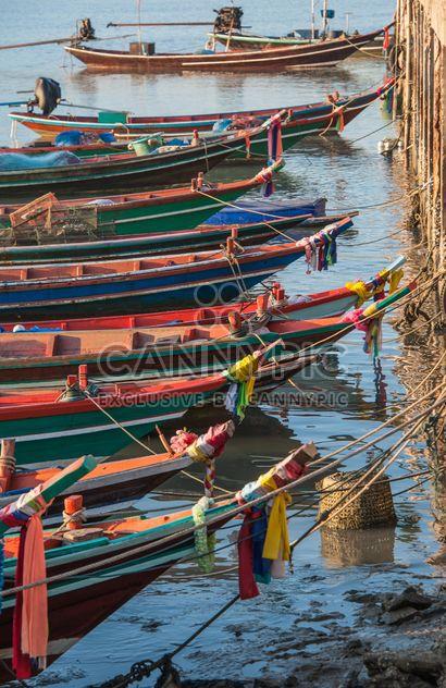 Barcos de pesca no cais - Free image #273597