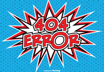 Comic Style 404 Error Illustration - Free vector #273977