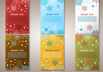Christmas Greetings cards - Free vector #273987