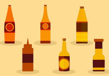 Sauce bottles - Free vector #274027
