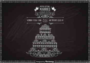 Free Wedding Cake With Roses Vector - vector gratuit #274037