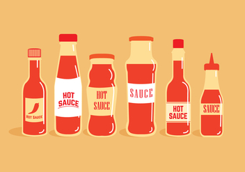 Hot Sauce Bottle Vectors - Free vector #274087