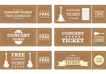 Brown Ticket - vector #274197 gratis