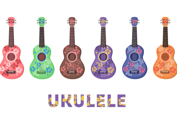 Ukulele Flower pattern - Free vector #274297