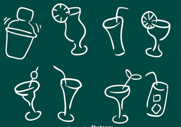 Sketchy Cocktail Icons - Free vector #274317