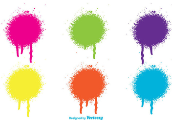 Spray Paint Drips - Free vector #274377