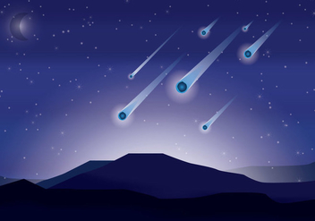 Meteor Shower Vector - Free vector #274427