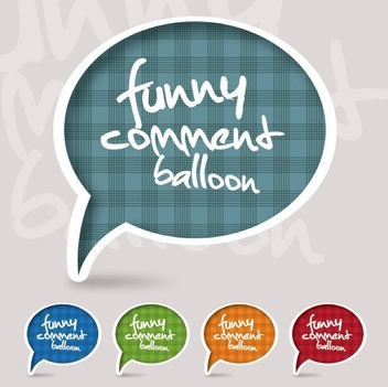 Funky Speech Bubble Set - vector gratuit #274497
