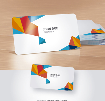 Business Card presentation Mock up - Free vector #274537