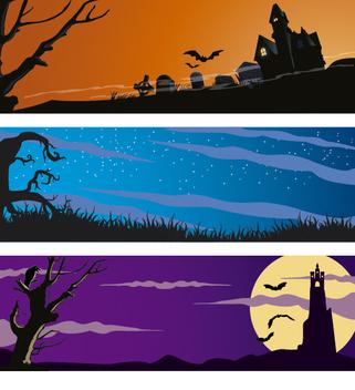 Halloween banner set - Free vector #274547