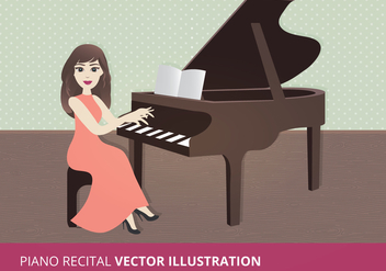 Piano Recital Vector Illustration - Free vector #274637