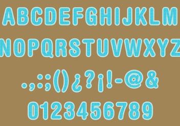 Sack Texture Font Vector - Free vector #274697