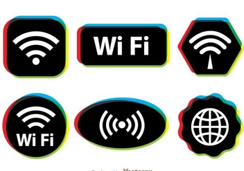 Multicolor Wifi Symbol - vector gratuit #274717